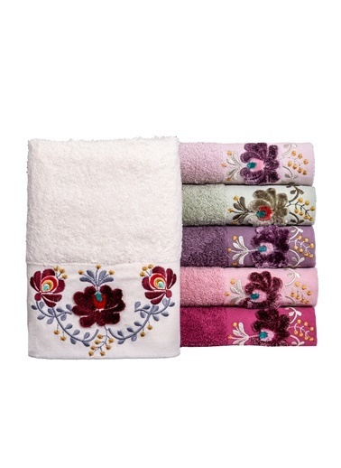 Minteks Ece Şonil 50x90 6 lı 6 Renk Havlu Seti Renkli